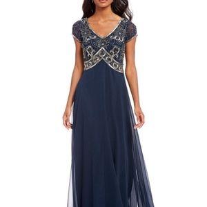 J Kara NEW Classic Gown Slate Blue Gray 6